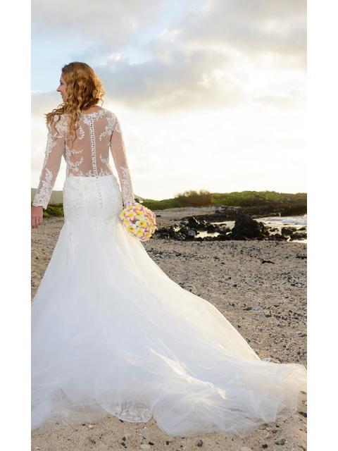 8f20820d73b Forme Sirène Trompette Col V Traîne mi-longue Robes de mariée ...